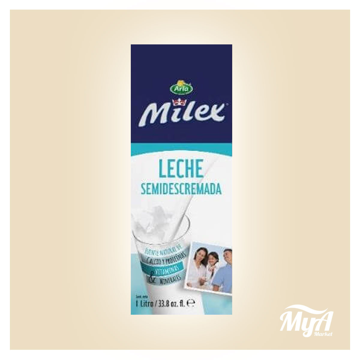 Leche Milex Semi Descremada 1lt