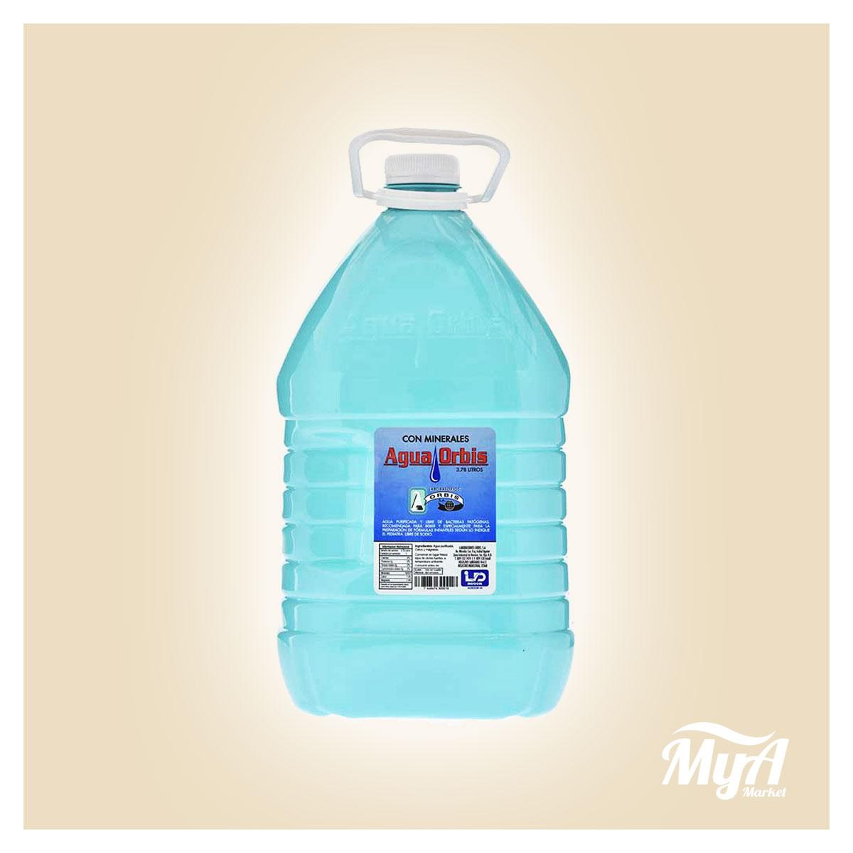 Agua Orbis Tapa Blanca 5lt