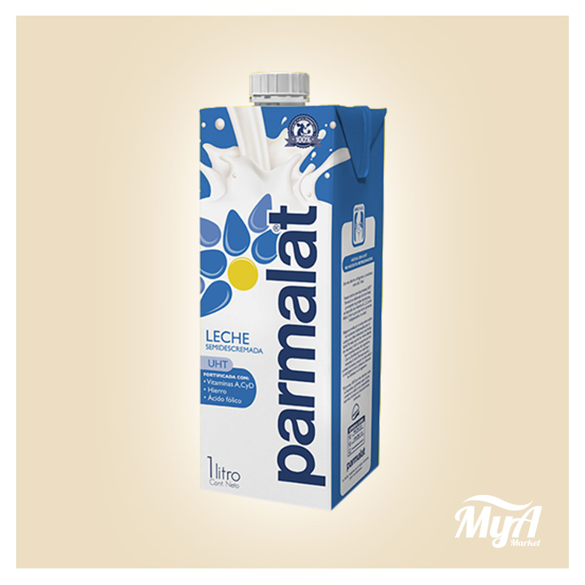 Leche Parmalat Semi Descremada 1lt